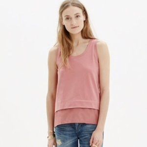 Madewell Silk Lined Cotton Layered Tank Top